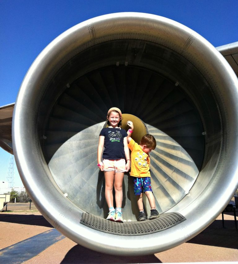 Mia Charlie in jumbo engine